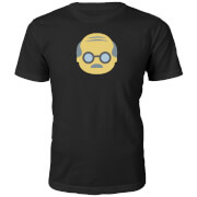 Emoji Unisex Old Man Face T-Shirt - Schwarz
