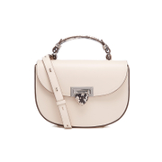 Aspinal of London Women's Letterbox Saddlebag - Ivory/Natural