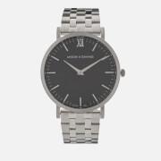 Larsson & Jennings Lugano 40mm 5 Link Watch - Silver/Black