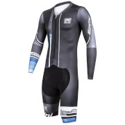 Santini Speed Shell Road Speed Suit - Grey/Blue