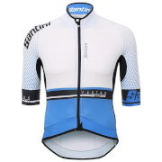Santini Photon 3.0 Jersey - White/Blue