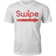 Swipe Right Slogan T-Shirt - White