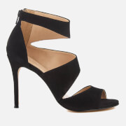 Carvela Women's Gene Suede Triple Strap Heeled Sandals - Black