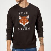 Zero Fox Given Slogan Sweatshirt - Black - S - Black