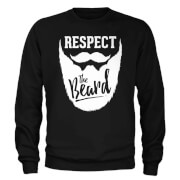 Respect The Beard Slogan Sweatshirt - Black