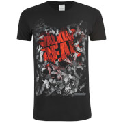 T-Shirt Homme Walking Dead Film Logo - Noir