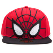 Marvel Spider-Man 3D Mesh Eyes Snapback Cap - Red/Black