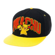 Pokémon Pikachu Snapback Cap with Yellow Bill - Black
