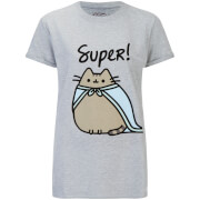 T-Shirt Femme SUPER Pusheen -Gris