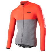 Nalini Mantova Warm Long Sleeve Jersey - Grey/Orange