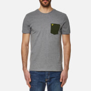 Lyle & Scott Men's Contrast Pocket T-Shirt - Mid Grey Marl