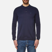 Lyle & Scott Men's Long Sleeve Mercerised Cotton Knitted Polo Shirt - Navy