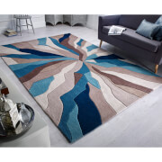 Flair Infinite Splinter Rug - Teal