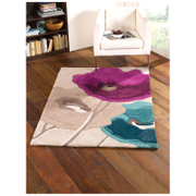 Flair Infinite Mod Rug - Art Poppy Flowers Teal/Purple