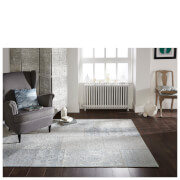 Flair Manhattan Patchwork Rug - Chenille Duck Egg
