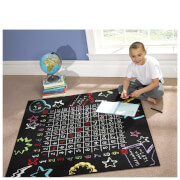 Flair Matrix Kiddy Rug - Multiplication Black (133X133)