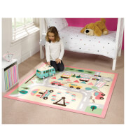 Flair Matrix Kiddy Rug - Town Map Girls Multi(133X133)