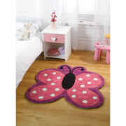 Flair Kiddy Play Rug - Polka Butterfly Multi (90X90)