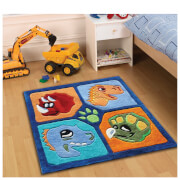 Tapis Flair Kiddy Play Rugs - Dino Multi (90X90)