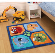 Flair Kiddy Play Rug - Dino Multi (90X90)