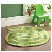 Tapis Flair Kiddy Play Rugs - Crocodile Vert (90X90)