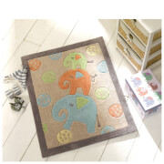 Tapis Flair Kiddy Play Rugs - Éléphants Multi (80X100)