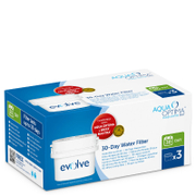 Aqua Optima 3 x 30 Day Evolve Water Filter Cartridges Fits BRITA MAXTRA Jugs (3 Month Pack)