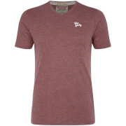 Tokyo Laundry Men's Essential V Neck T-Shirt - Bordeaux Marl