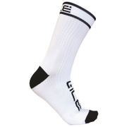 Alé Power 15cm Cuff Cycling Socks - White/Black