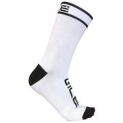 Alé Power 15cm Cuff Cycling Socks - White/Black