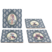 Hipster Animal Coasters Collection One