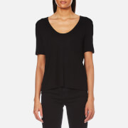 T by Alexander Wang Women's Classic Cropped T-Shirt - Black - L - Black