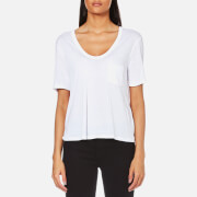 T by Alexander Wang Women's Classic Cropped T-Shirt - White