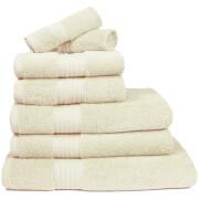 Restmor 100% ägyptische Baumwolle 7-Teil Supreme Badetuch-Set - Ivory