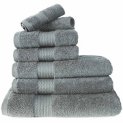 Restmor 100% Egyptian Cotton 7 Piece Supreme Towel Bale Set (500gsm) - Charcoal