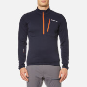 Montane Men's Power Up Pull On Fleece - Antarctic Blue/Tangerine