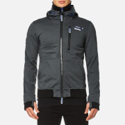 Superdry Men's Ascent Ziphood Jacket - Black Marl/Mazarine Blue