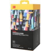 120 Papiers Photo + Cartouche pour Imprimante Kodak Dock