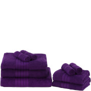 Highams 100% Egyptian Cotton 9 Piece Towel Bale (500 gsm) - Grape