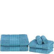 Highams 100% Egyptian Cotton 6 Piece Towel Bale (500 gsm) - Teal