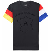 Le Coq Sportif Tour de France N3 Grand Depart T-Shirt - Black