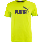 T-Shirt Homme Essential Logo Puma -Punch Citron Vert