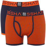 Lot de 2 Boxers Glowchex Crosshatch - Orange