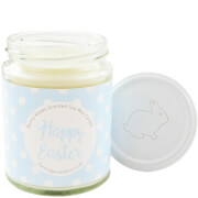 Happy Easter Blue Polka-Dot Bunny Kisses Candle