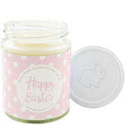 Happy Easter Pink Polka-Dot Bunny Kisses Candle