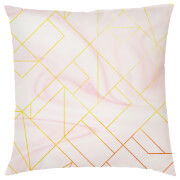 Marble Geometric Cushion - Pink