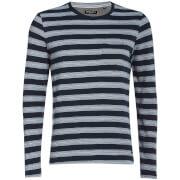 T-Shirt à Manches Longues Slate Rayures Brave Soul -Bleu Marine