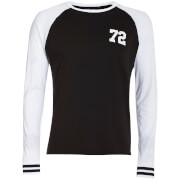 Brave Soul Men's Granite Long Sleeve Top - Black/White
