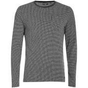 Brave Soul Men's Mosley Long Sleeve Top - Dark Charcoal Marl