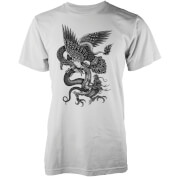 Abandon Ship Eagle Dragon Snake Heren T-shirt - Wit